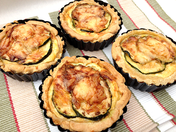 courgette tarts