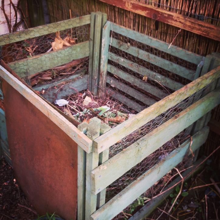emptied compost bin
