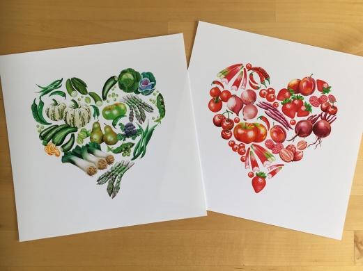 heart prints