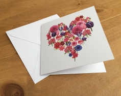 flower heart card 3