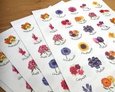 flower stickers 4