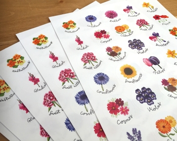 flower stickers 4