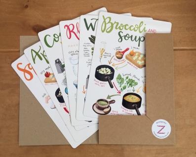 Recipe cards set 4