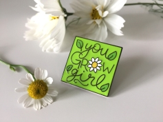 pin badge with flowers1